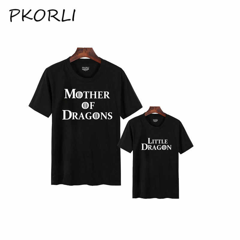 77165a61 Pkorli Mommy And Me Game Of Thrones Set Mother Of Dragons And Little Dragon  T-