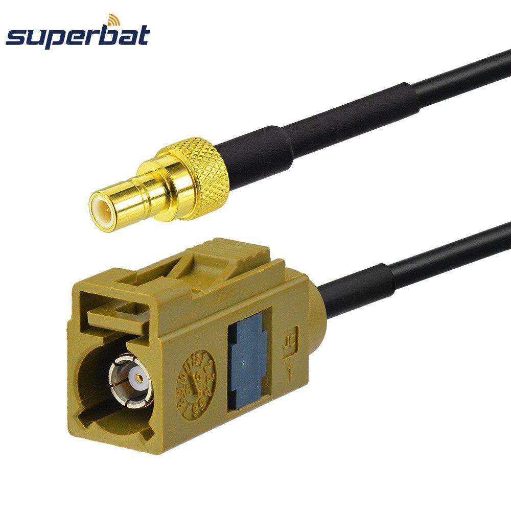 Superbat Fakra K Female Jack To SMB Male Plug Crimp Connector Radio Extension RG174 Cable 6