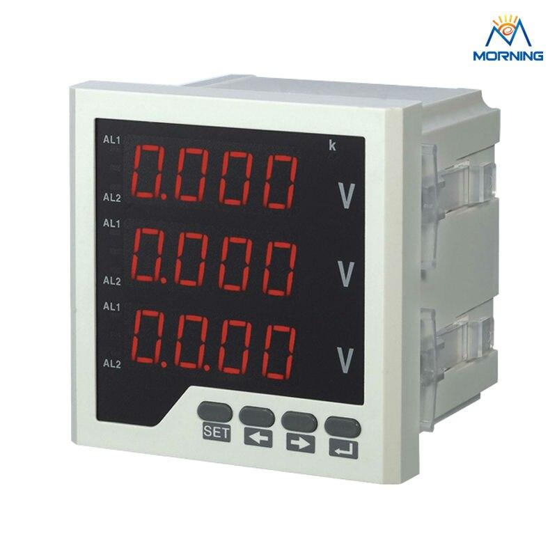 3AV23 panel size 120*120mm AC panel voltmeter, three phase LED digital panels voltage meter for electronic network 220V цена
