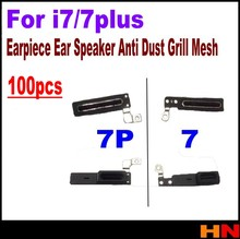 100pcs High quality MicroData Adhesive Ear Speaker for iPhone 7 7 plus Earpiece Anti Dust Screen Mesh lcd Replacement
