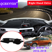 QCBXYYXH For BMW X1 2016 2018 Right Hand Drive Dashboard Mat Protective Interior Photophobism Pad Shade Cushion Car Styling