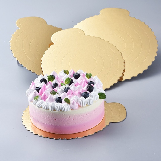 1pc Gold Round Cake Baking Board Circle Base  Inch Paper Cupcakes Stand Cases Liners Party Weddisng Pastry Mat Decoration
