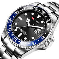 New Hot Luxury Brand Fashion Men Quartz Watches Steel Luminous Waterproof Men Sports Watches Relogio Masculino Wristwatches