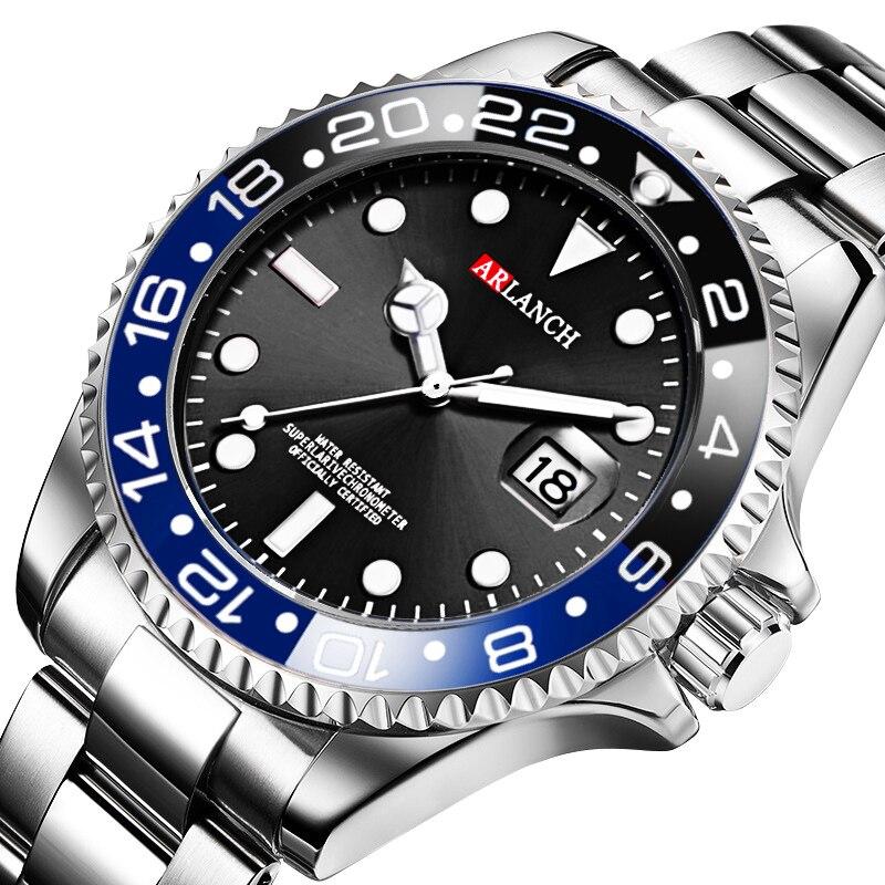 New Hot Marca de Luxo Da Moda Homens de Quartzo Relógios Luminosos Aço Homens Relógios Desportivos Relogio masculino Relógios de Pulso À Prova D' Água