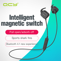 QCY QY12 Magnet Switch Adsorption Earphones Sport Wireless Bluetooth 4 1 Headphones Aptx Hifi Headset With