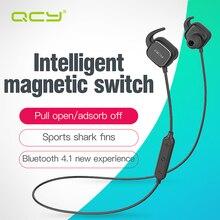 QCY QY12 переключатель магнит адсорбции наушники спорт беспроводная связь bluetooth 4.1 наушники hi-fi наушники с Микрофоном для iphone 5s 6 aptx 7