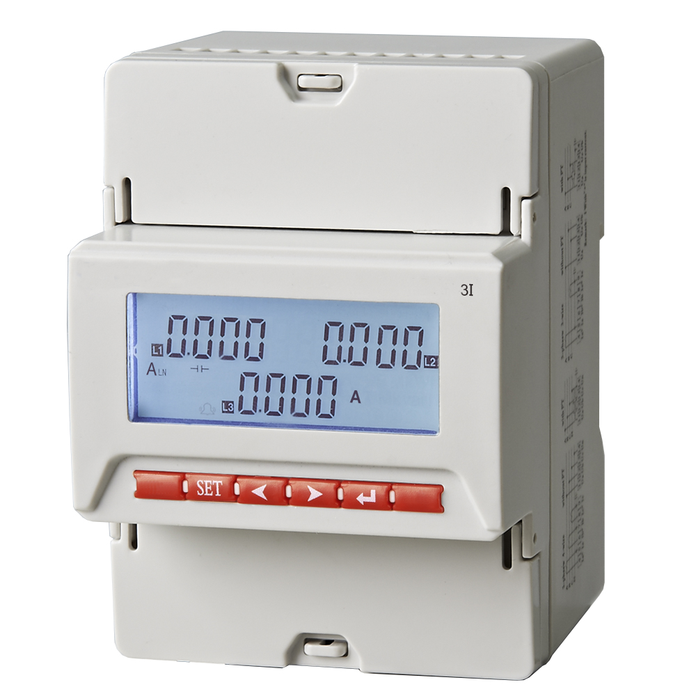 ME-PT Three phase AC current or voltage LED display power transducer 35mm Din-rail or M4 screw