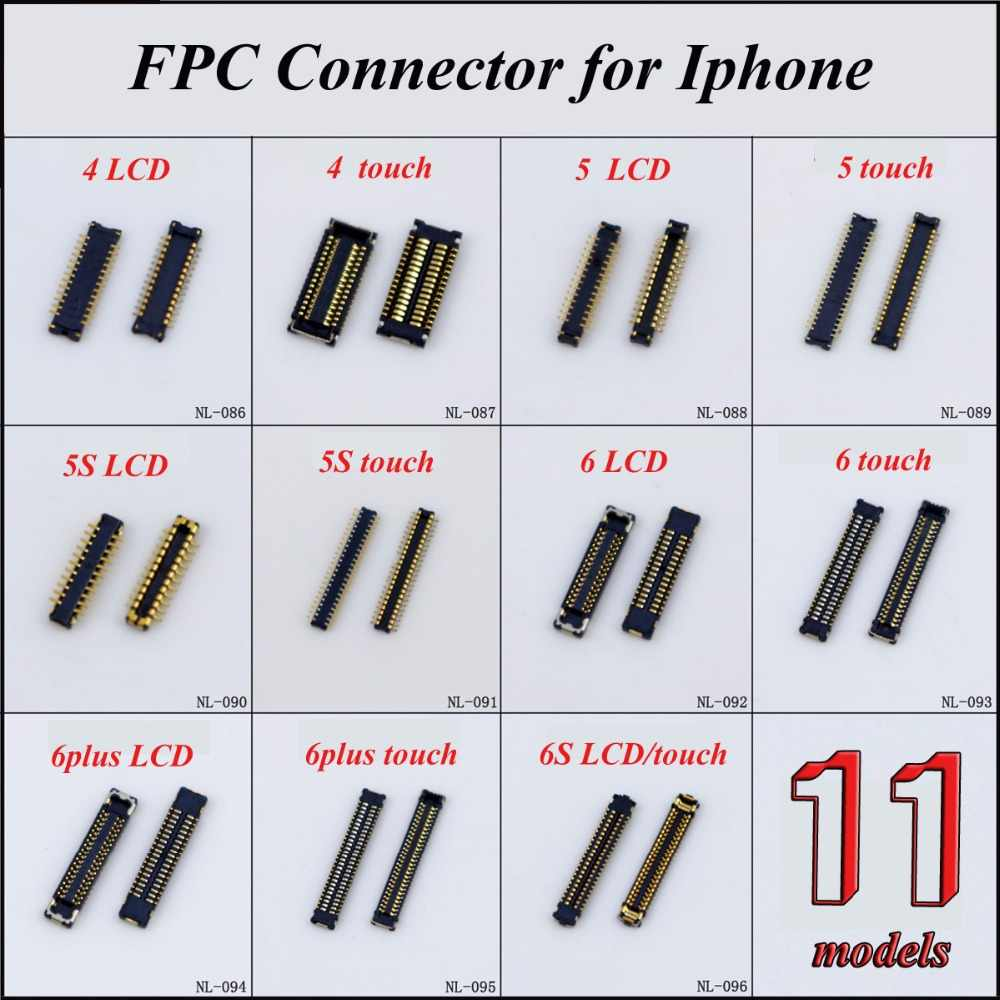 1Piece LCD Digitizer/Touch Screen Display FPC connector for iPhone 4 4s 5 5s 6 6plus 6s on motherboard logic board mainboard