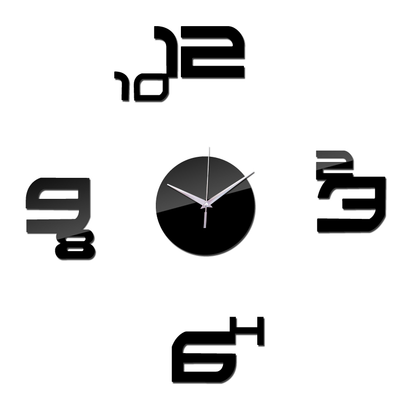 New Arrival Brief Style Wall Quartz Clocks Home Decor Wall Watches Needle Diy Mirror Acrylic Material Wall Stickers Single Face