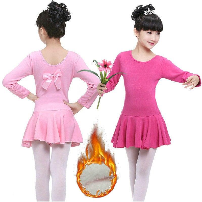 swan lake rhythmic long sleeves gymnastics leotard for girls cotton ballet kids dance wear costumes children tutu skirts dress