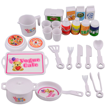 25pcs/set DIY Kitchen Pretend Play Toys Miniature Cooking Play Kitchenware Playset Educational Toy Gift for Children geek king 13pcs high quality set kitchen cooking toy children diy pretend kitchen toy role play toy set kids educational toys
