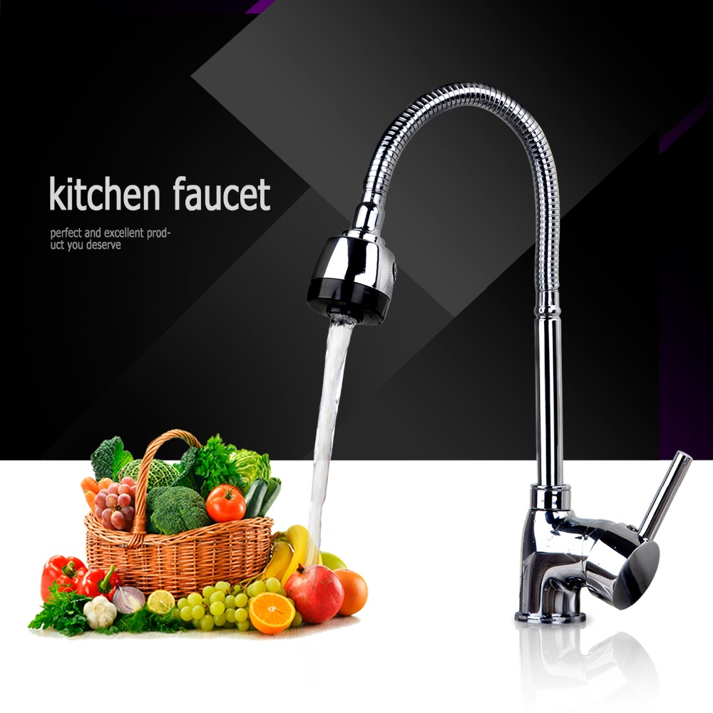 Free shipping Kitchen Faucet Polish Chrome Swivel Bathroom Basin Sink Mixer Tap Crane torneira 8551 2
