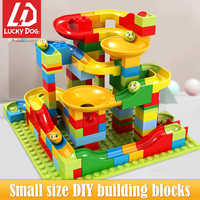 165PCS Small Size marble run Building Blocks Compatible Legoingly Bricks Set Toys for Children