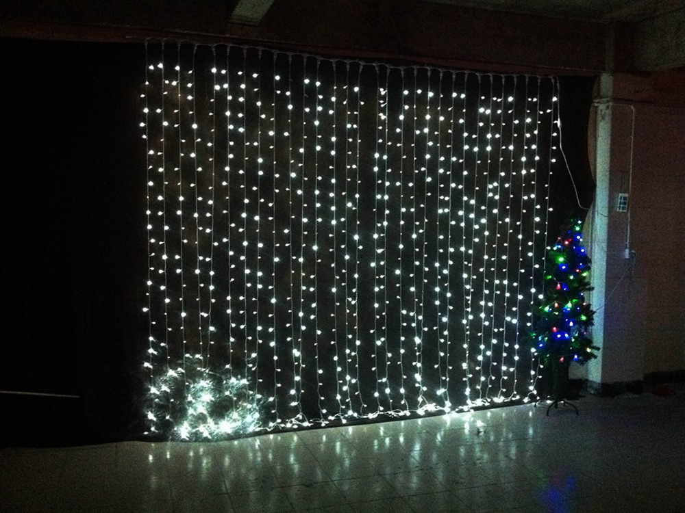 3Mx3M 360LED Waterfall LED String Outdoor Christmas Wedding Curtain Fairy  Lights Lamps New Year Decoration AC220V Luminaria-in LED String from Lights  ... - 3Mx3M 360LED Waterfall LED String Outdoor Christmas Wedding Curtain