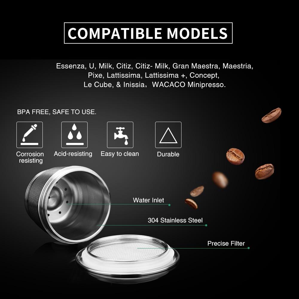 ICafilas многоразовый пресс-капсула из нержавеющей стали Nes o с прессом для измельчения кофе из нержавеющей стали Es пресс o Кофеварка корзина
