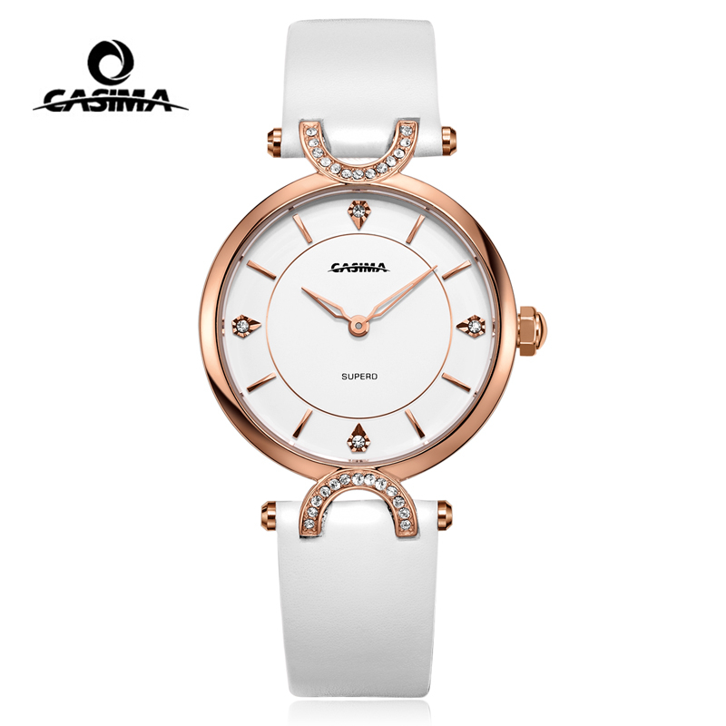 Relogio Feminino CASIMA Luxury Brand Women Watches Fashion Casual Gold Quartz Wrist Watch Waterproof Leather Ladies Watch Clock vansvar brand fashion casual relogio feminino vintage leather women quartz wrist watch gift clock drop shipping 1903