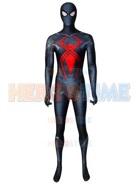 PS4 Spider-Man Dark Suit Spiderman Cosplay Costume 3d print superhero Zentai suit For Adult/Kids can custom made
