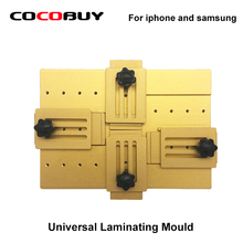 Купить с кэшбэком Universal Aluminium Alloy LCD Laminating Alignment Mould Adjustable Mold Front Outer Glass Holder for Iphone and Samsung