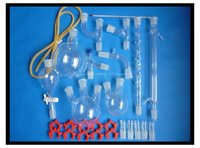 Free Shipping Organic Chemistry Laboratory Glassware Kit Lab Glassware Kit Borosilicate Glass 3 3