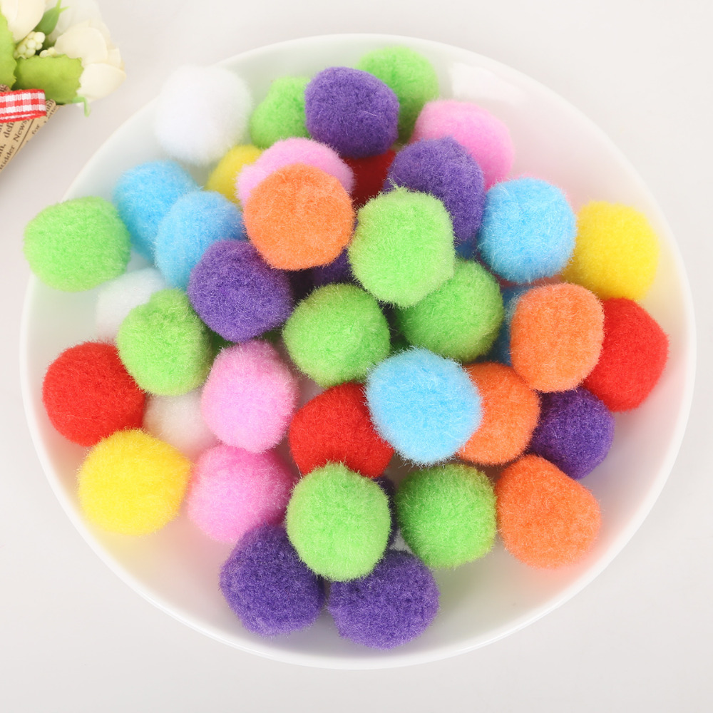 100-500pcs 10/15/20/25/30mm Mini Fluffy Soft Pom Poms Pompoms Ball Handmade Kids Toys DIY Sewing Craft Supplies