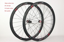 Highend carbon wheel 38mm wheels with basalt brake surface, 100% hand-wheel with carbon hub DT240