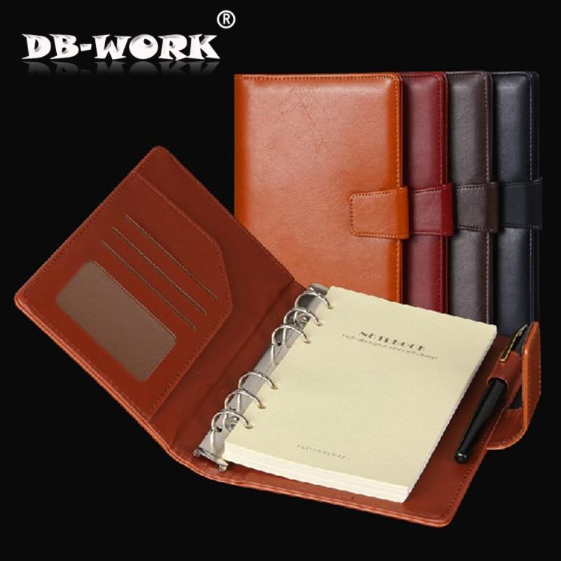2019 Högkvalitativt kontorsmaterial för brevpapper Anteckningsblock A6 A5 lösa blad anteckningsbok binder bindemedel dagbok anpassade