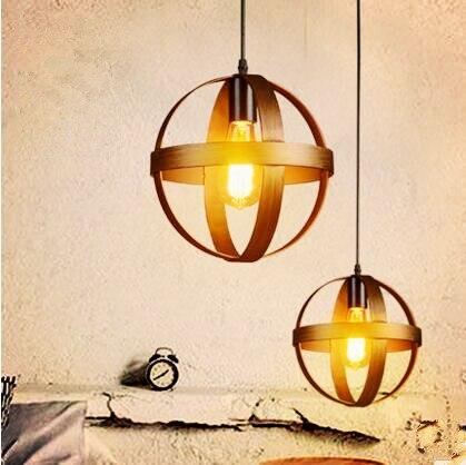 IWHD Nordic Retro Vintage Lamp Industrial Lighting Fixtures Edison Pendant Light Indoor Home Lighting Lamparas Handing Light