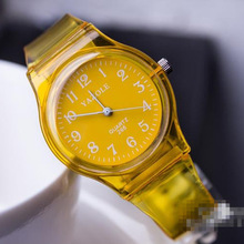 Quartz watch transparent fashion students watch