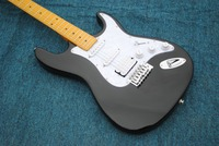 Hot sale line up custom ST electric guitar,black Chinese ST guitar high quality BK white veneer,Free shipping