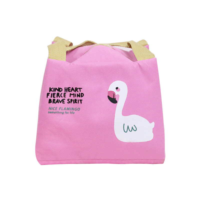 Fashion Flamingo Lunch Bag Women Men Insulated Cooler Case Portable Thermal Kid Food Picnic Bento Container Accessories Supplies