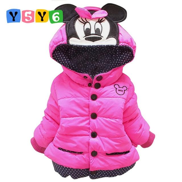 8358a0d031d1b Nouveaux enfants manteau Minnie bébé filles manteaux d hiver à manches  longues manteau fille chaud