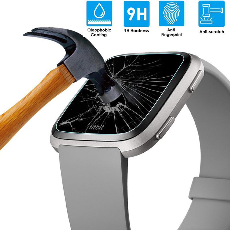 1Pcs/2pcs HDD Tempered Glass 9H 2.5D Premium Screen Protector Film For Fit Bit Versa Smart Watch Band