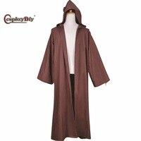 Cabo manto manto marrom para jedi star wars filme cosplaydiy Obi Wan Kenobi Obi Wan Homens Adultos Traje Cosplay Dia Das Bruxas D0807