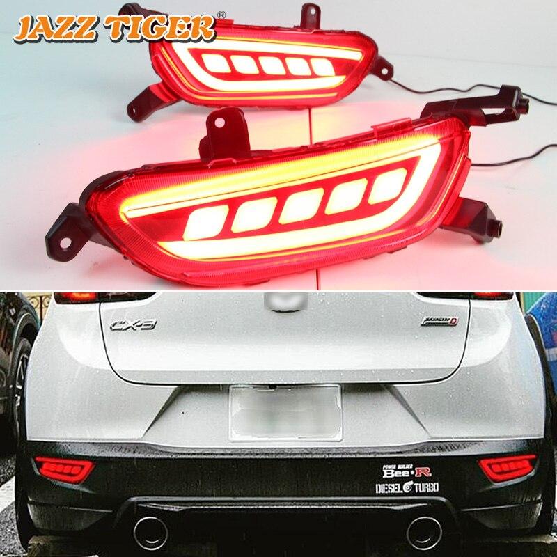 JAZZ TIGER Multi function Car LED Rear Fog Lamp Turn Signal Lamp Brake Light Rear Bumper