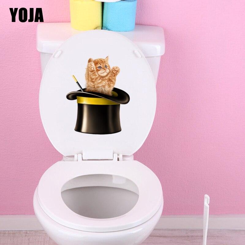 Niedrigerer Preis Mit Yoja 18,3*23,2 Cm Haustier Katze Wc Aufkleber Aufkleber Cartoon Home Decor Muster Tier T3-0427 Ungleiche Leistung Wohnkultur Haus & Garten