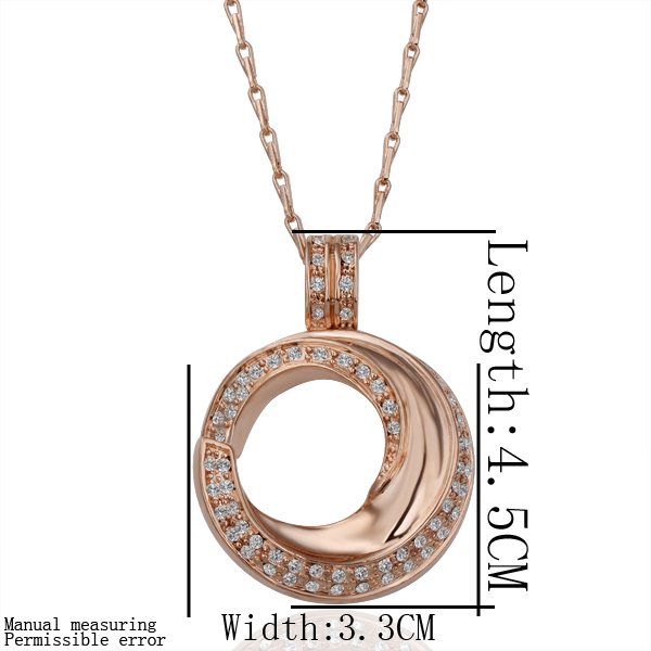 Free shipping 18K GP gold plated jewelry necklace fine fashion rhinestone crystal nickel free pendant necklace SMTPN145