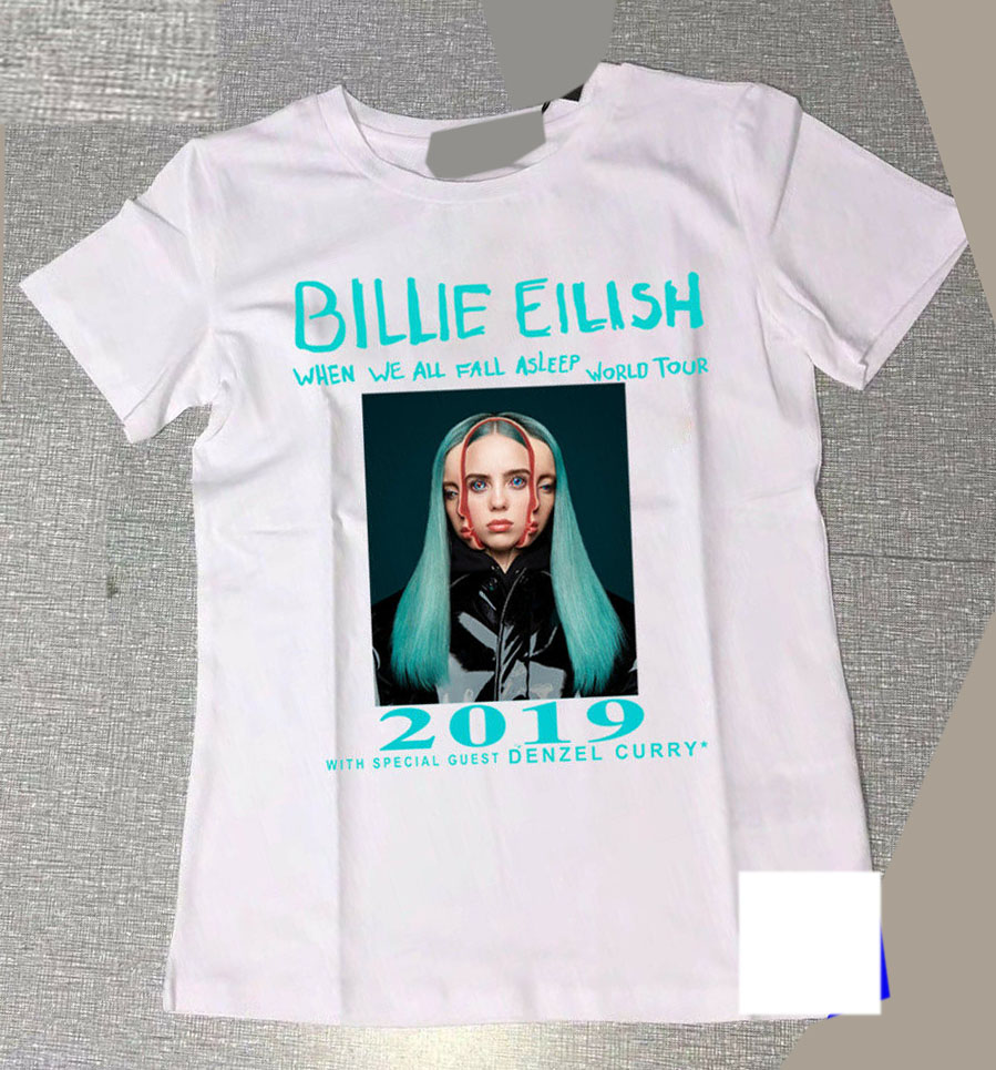 Billie Eilish World Tour 2019 with Special Guest DENZEL CURRY T Shirt Size S 3XL T Shirt for Men Boy Short Sleeve Cool Tees in T Shirts from Men 39 s Clothing