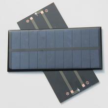 Hot Sale! 10PCS/Lot 1.5W 5V 300Ma Polycrystalline Solar Panel DIY Solar Charger For 3.6V Battery Education Kits Free Shipping