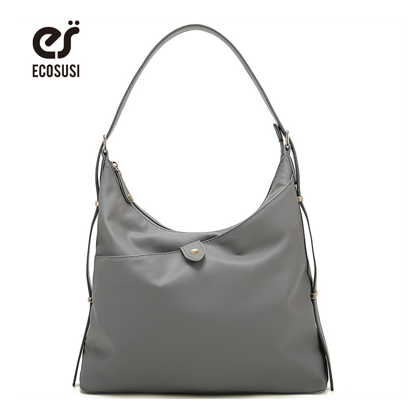 ECOSUSI New Women PU Leather Handbag High Quality Retro Women Messenger Bags Famous Designer Leather Crossbody Shoulder Bag