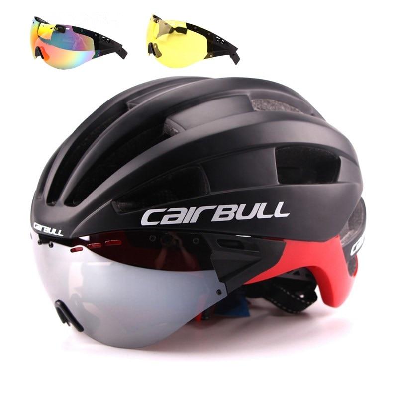 Cairbull Bicycle font b Helmet b font EPS Aero Ultralight Road MTB Bike Windproof Lenses Integrally