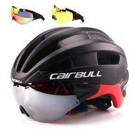 Cairbull Bicycle Helmet EPS Aero Ultralight Road MTB Bike Windproof Lenses Integrally molded Helmet Cycling Casco Ciclismo 2018