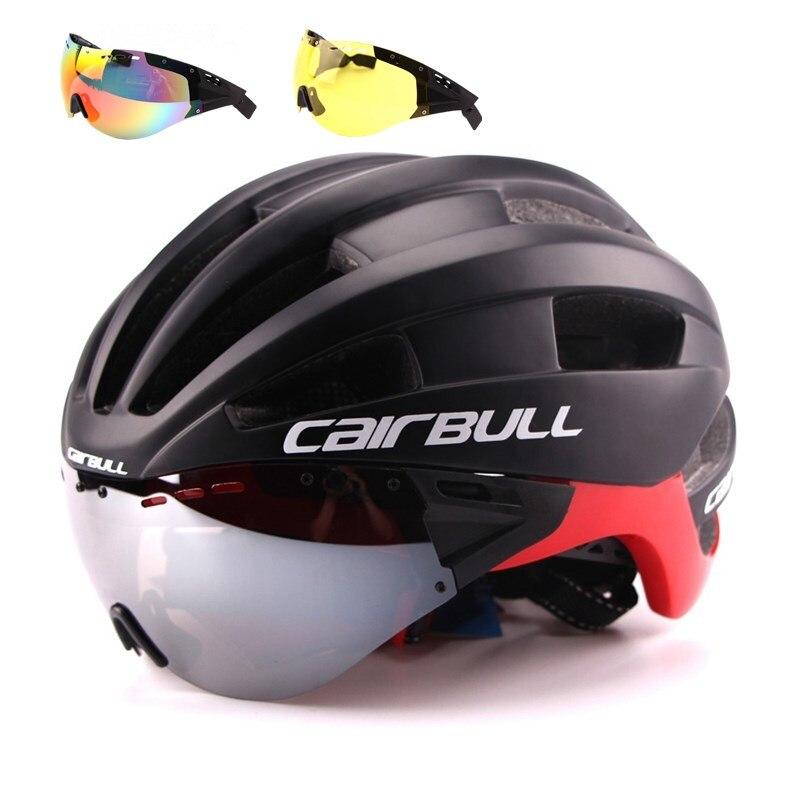Cairbull Casque De Vélo EPS Aero Ultra-Léger Route VTT Vélo Coupe-Vent Lentilles Moulée Intégralement Casque Vélo Casco Ciclismo 2018