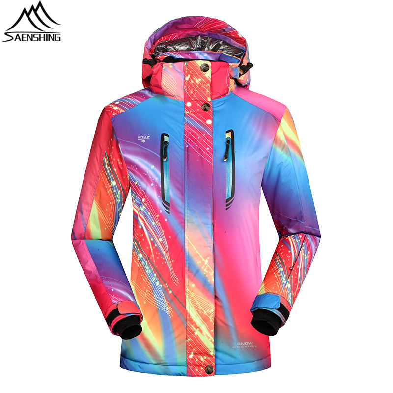 SAENSHING Women Waterproof Ski Jacket Snowboard Coats Girls Super Warm Winter Snow Jacket Outdoor Ski Clothing Skiing Wear S-XXL outdoor loose fit straight leg multi pocket solid color zipper fly cargo pants for men