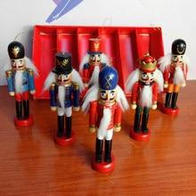 Рождественское украшение 1 шт. 12 см Zakka деревянная кукла-Щелкунчик новогодний Рождественский Обои для рабочего стола рисунок грецкие орехи солдаты