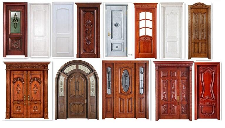 Madera maciza puerta nica puerta doble puerta interior de for Puertas entrada madera maciza precios