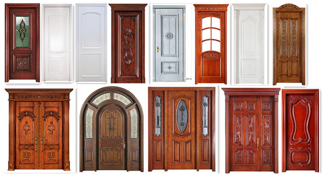 Superb Solid Wood Door Single Door Double Door Interior Entry Door House  Architecture 01