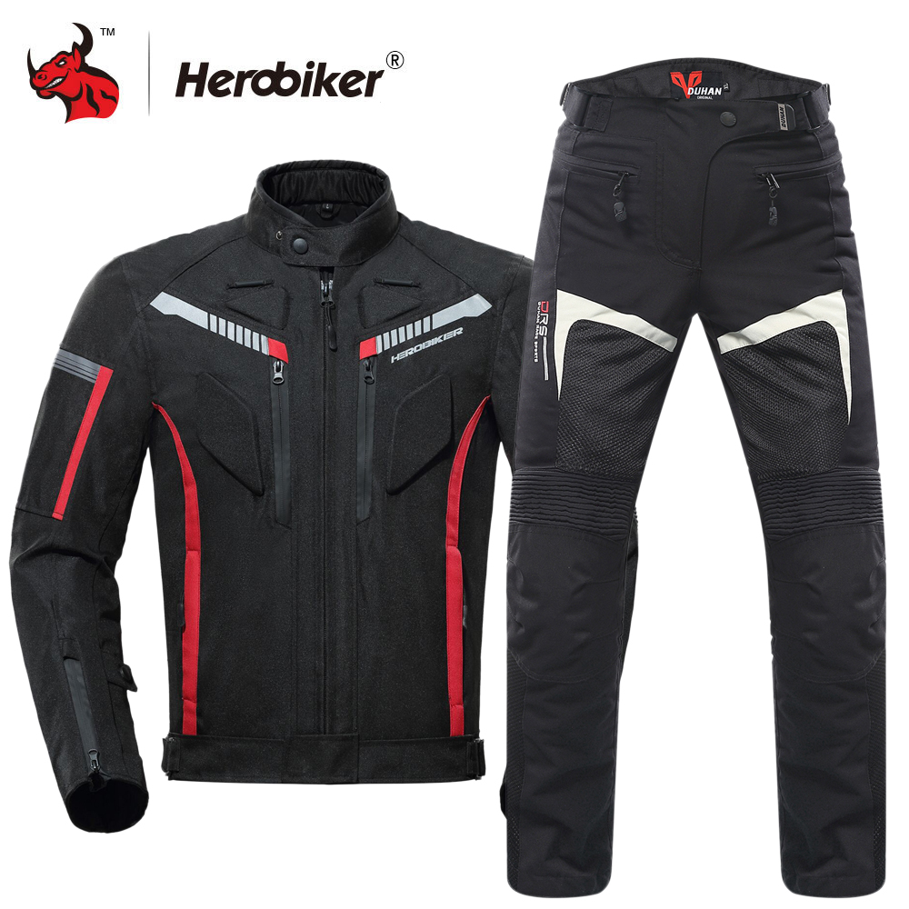 HEROBIKER Motorcycle Jacket Protective Gear Waterproof Moto Jacket Men s Motocross Clothing Motorcycle Suit With 5