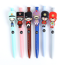 6 pcs Vintage cartoon British soldiers gel pen 0.5mm Black color writing pens Canetas escolar Office school supplies A6536