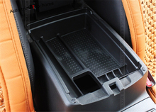 Black For nissan X-trail T32 / Rogue 2014 2015 2016 Middle Central Console Multifunction Storage Box Phone Tray Accessory
