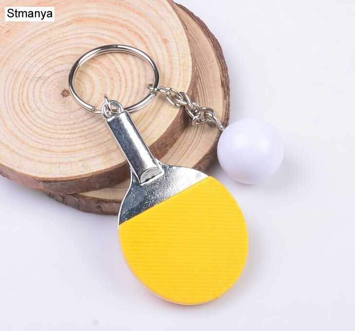 79bc31e9a ... 7 Color Sport Ping Pong Table Tennis Ball Badminton Bowling Ball  Keychain Key Chain Keyring Key